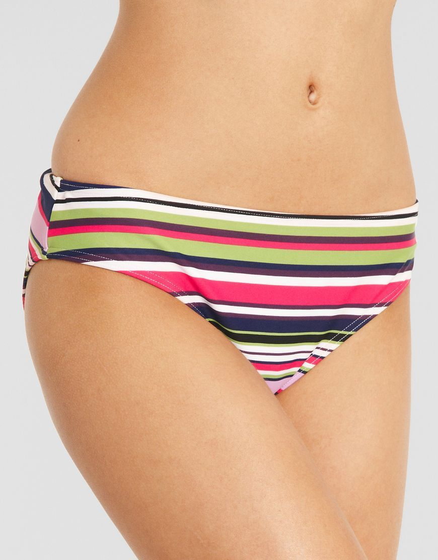 Details about JUST PEACHY FIGLEAVES Tequila Sunrise CLASSIC BIKINI BRIEF Swim Pink BRAND NEW